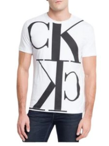 Calvin Klein Jeans Tshirt Mc Mirror Full Branco Tc855