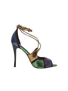 Cecconello Sandália Metalizada Multicolor 1506005-1