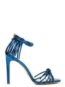 Cecconello Sandália Metalizada Azul Amarração 1475006-2