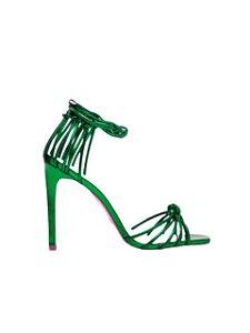 Cecconello Sandália Metalizada Verde Amarração 1475006-12