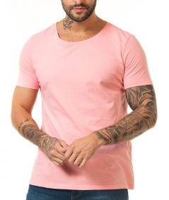 Docthos Tshirt Mc Slim Basic Rosa Claro 623436946