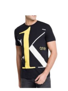 Calvin Klein Jeans Tshirt Mc Ck One Preto Tc018