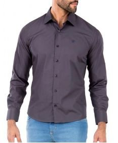 Docthos Camisa Ml Liso Easy Chumbo 605119064