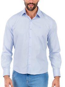 Docthos Camisa Ml Liso Easy Azul Serenity 605119064