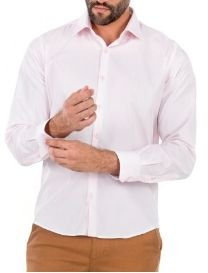 Docthos Camisa Ml Liso Easy Rosa 605119064