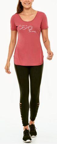 Alto Giro Tshirt Skin Fit Inspiracional Colors Rosa Antigo 2021704
