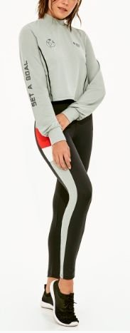 Alto Giro Legging Up Co2 Corte Laterais Preto 2021304