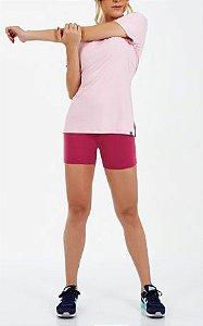 Alto Giro Tshirt Skin Fit Alongada Com Abertura Rosa Baby 2011706