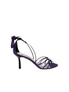 Cecconello Sandália Metalizada Purple Craquelado 1514003-4