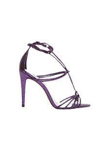 Cecconello Sandália Metalizado Craquelado Purple 1506006-1