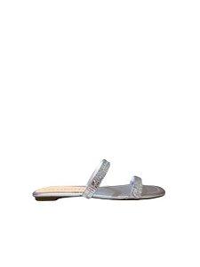 Cecconello Rasteira Metalizada Tiras Prata 1445011-1