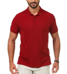 Docthos Polo Slim Piquet Tinturada Bordo 640636881