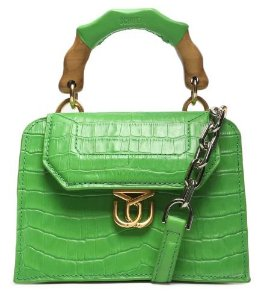 Schutz Crossbody Believe Bright Croco Green S5001813140002