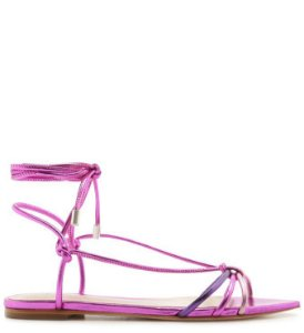 Schutz Flat Strings Metallic Mix Fucsia S2057100020006