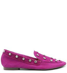 Schutz Loafer Maxistuds Suede Violet S2071001200003