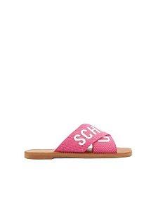 Schutz Flat Cross Pink S2088900040005