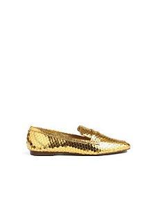 Schutz Mocassim Flat In Gold S2071000390002