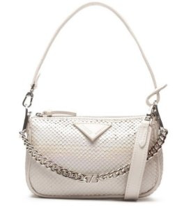 Schutz Crossbody Emmy Bright Snake White S5001813490005