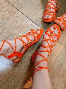 Especiaria Sandália Rasteira Amarração Orange 7722.30577