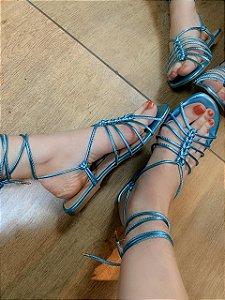 Especiaria Sandália Rasteira Amarração Azul Celeste 7722.30571