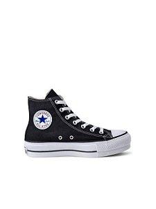 Converse All Star Tênis Chuck Taylor Cano Alto Hi Flatform Preto CT04940001