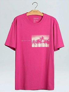 Osklen T-Shirt Regular Coqueiros Pink 60913