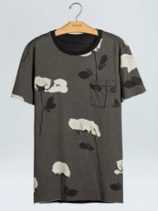 Osklen T-Shirt Double Rose Glitch 60768
