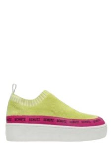 Schutz Sneaker Logomania Minimal Knit Neon S2114500030002