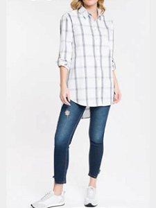 Calvin Klein Camisa Ml Reg Full Ampla Xadrez TL541