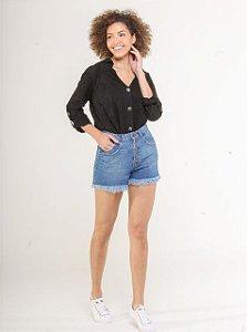 Pigmento Short Jeans Fem Botôes 5031981