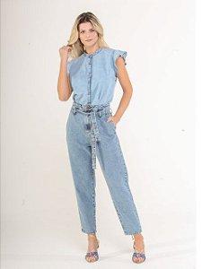 Pigmento Calça Jeans Fem Clochard C/ Cinto 5014184