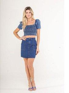 Pigmento Saia Curta Jeans 504728