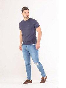 Pigmento Calça Jeans Masc Skinny Rasgada 1012133
