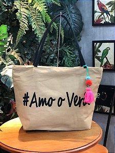 Bolsa #Amo o Verão Caqui E003698