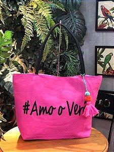 Bolsa #Amo o Verão Pink E003698