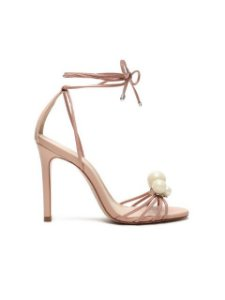 Schutz Sandália Lace-Up Pearls Rose S2053201530001