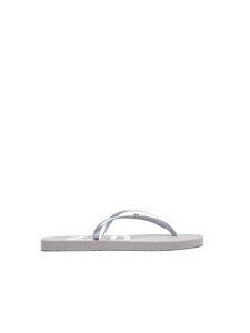 Schutz Chinelo Flip Flop Silver S2063200020009