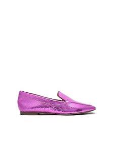 Schutz Loafer Metallic Snake Violet S2071001160002