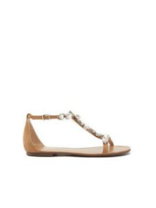 Schutz Flat String Glam Honey Beige S0116801460002