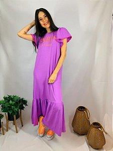 Vestido Longo Paris Lilas 10314