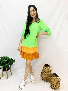 Vestido Curto Verde Fluor 10315