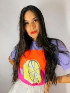 T-Shirt Lemon Lilas 91