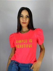 Blusa Moletinho Pink Neon 10214