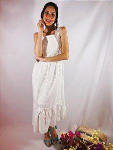 Vestido Midi Laise Alça Branco 16022