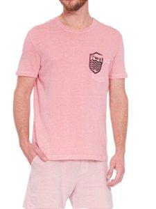 Osklen Camiseta Brasão Rosa 59088