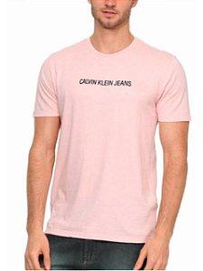 Calvin Klein Jeans Camiseta Logo Rosa Claro TC204