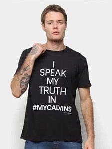 Calvin Klein Jeans Camiseta I Speak Black TC774
