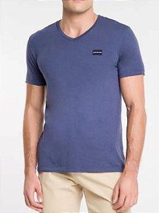 Calvin Klein Jeans Camiseta Basic Gola V Marinho TC830