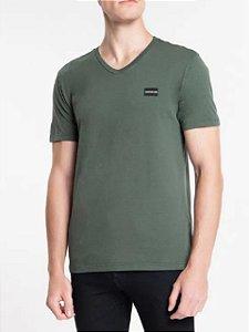 Calvin Klein Jeans Camiseta Basic Gola V Verde Militar TC830