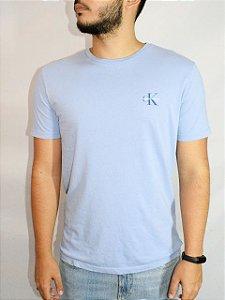 Calvin Klein Jeans Camiseta CK logo Lavanda TC208